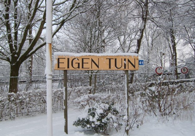 Eigen Tuin Sneeuw